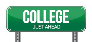 College Just Ahead clip art