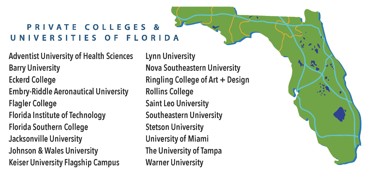Florida Universities Map.Private Colleges And Universities Of Florida Guidance