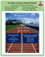 Free Use of High School Outdoor Facilities This Summer